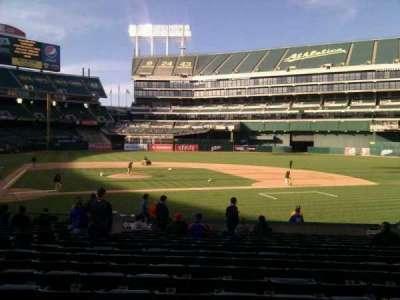 Oakland Alameda Coliseum, section: 114, row: 18, seat: 16