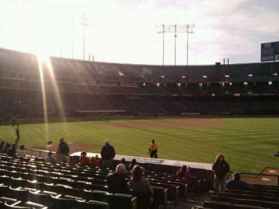 Oakland Alameda Coliseum, section: 105, row: 13, seat: 14