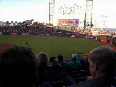 AT&T Park, section: 207, row: e, seat: 6
