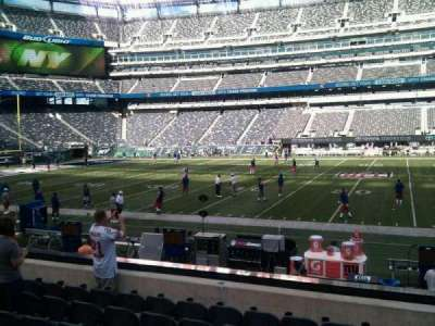 MetLife Stadium, section: 137, row: 9, seat: 8