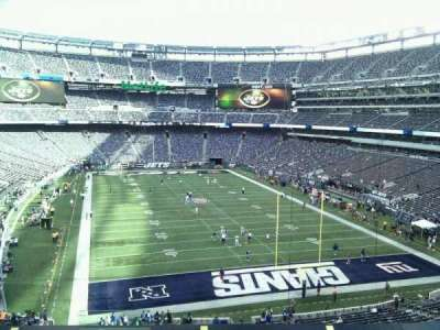 MetLife Stadium, section: 203a, row: 10, seat: 20