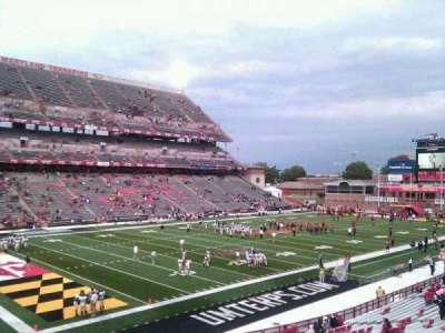Maryland Stadium, section: 20, row: ll, seat: 9