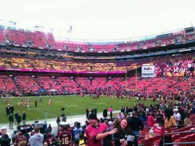 FedEx Field, section: 122, row: 15, seat: 11