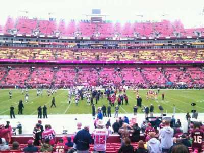 FedEx Field, section: 122, row: 15, seat: 10