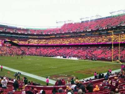 FedEx Field, section: 136, row: 19, seat: 10
