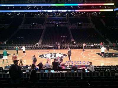 Barclays Center, section: 8, row: 10, seat: 9
