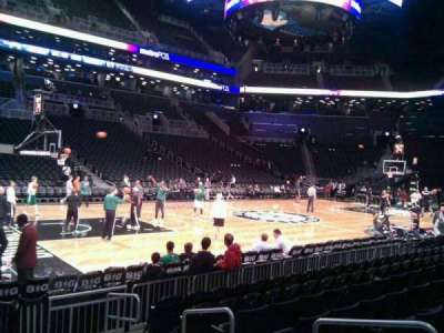 Barclays Center, section: 10, row: 5, seat: 4