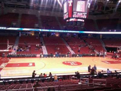 Liacouras Center, section: 114, row: t, seat: 9