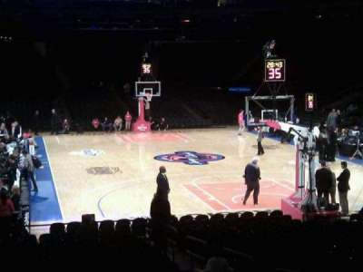 Madison Square Garden, section: 111, row: 9, seat: 7