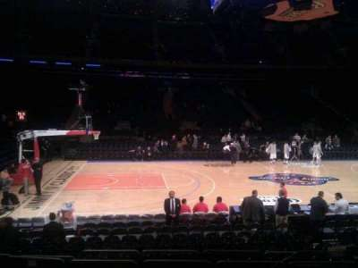 Madison Square Garden, section: 106, row: 7, seat: 13