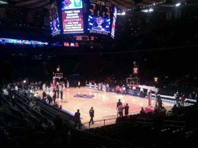 Madison Square Garden, section: 120, row: 9, seat: 10