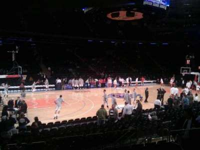 Madison Square Garden, section: 116, row: 8, seat: 1