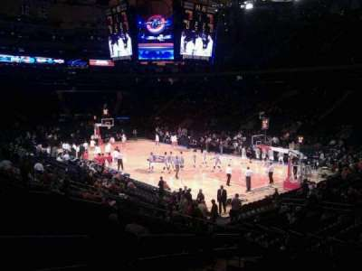 Madison Square Garden, section: 110, row: 16, seat: 4