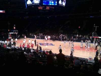 Madison Square Garden, section: 108, row: 12, seat: 20