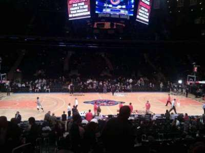 Madison Square Garden, section: 107, row: 13, seat: 1
