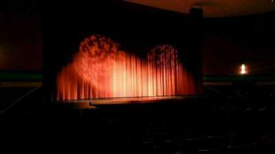 Landis Theater, section: orchestra left, row: p, seat: 17