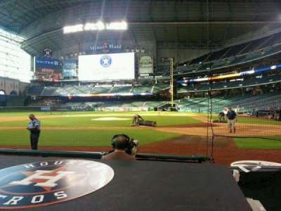 Minute Maid Park, section: 116, row: 2, seat: 1