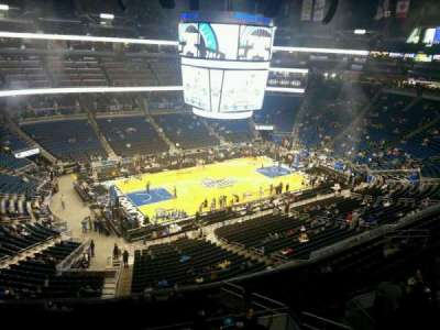 Amway Center, section: 212, row: 1, seat: 6