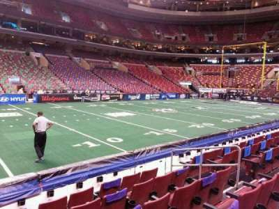 Wells Fargo Center, section: 111, row: 6, seat: 8