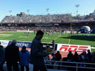 Percival Molson Memorial Stadium, section: b1, row: 5, seat: 4