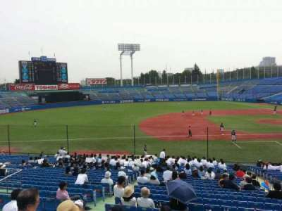 Jingu Stadium, section: 11, row: 31, seat: 116