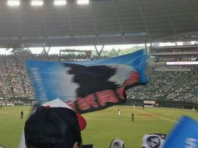 Seibu Prince Dome section Home supporters