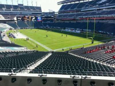 Lincoln Financial Field, section: NE Terrace 1, row: 4, seat: 20