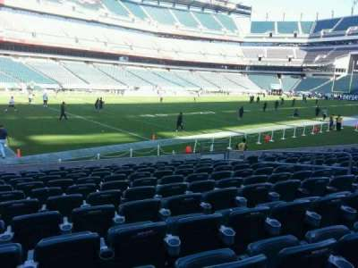 Lincoln Financial Field, section: 134, row: 11, seat: 10