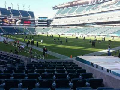 Lincoln Financial Field, section: 107, row: 11, seat: 10