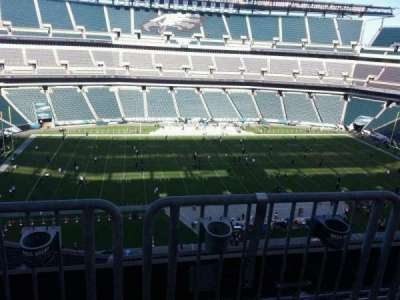 Lincoln Financial Field, section: 243, row: aca, seat: 6