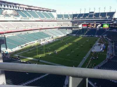 Lincoln Financial Field section Eagles nest