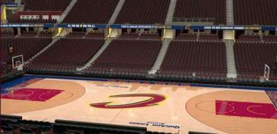 Quicken Loans Arena, section: C126, row: 20