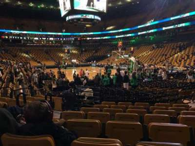 TD Garden section Loge 8 home of Boston Bruins Boston Celtics