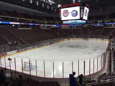 Giant Center, section: 115, row: Q, seat: 3