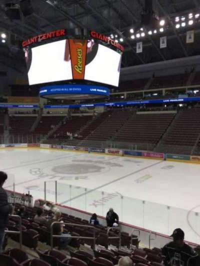 Giant Center, section: 122, row: N, seat: 11