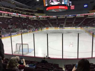 Giant Center, section: 101, row: H, seat: 1