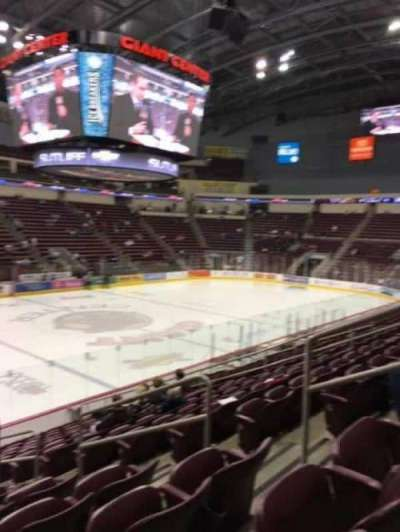 Giant Center, section: 105, row: P, seat: 5