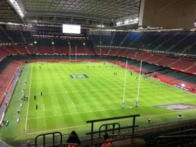 Principality Stadium, section: U22, row: 15, seat: 26