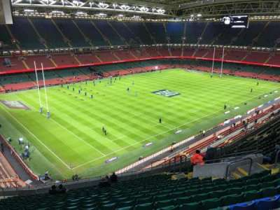 Principality Stadium, section: U35, row: 20, seat: 15