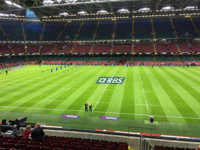 Principality Stadium, section: M29, row: 11, seat: 26