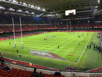 Principality Stadium, section: M17, row: 11, seat: 17