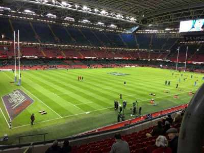 Principality Stadium, section: M13, row: 12, seat: 17