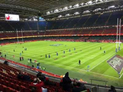Principality Stadium, section: M4, row: 12, seat: 16