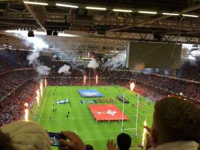 Principality Stadium, section: U21, row: 26, seat: 5