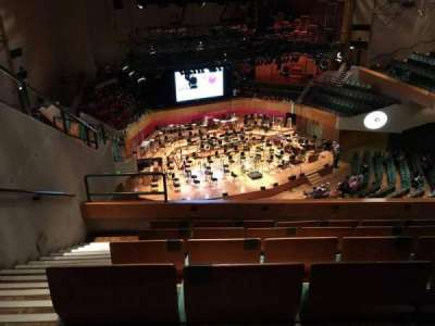 St David's Hall, section: Tier 12, row: F, seat: 15