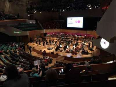 St David's Hall, section: Tier 8, row: E, seat: 2