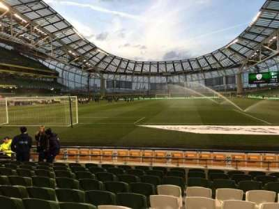 Aviva Stadium, section: 114, row: I, seat: 3