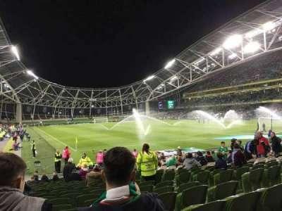 Aviva Stadium, section: 117, row: V, seat: 20