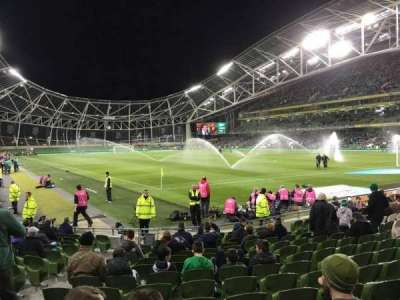 Aviva Stadium, section: 118, row: Q, seat: 10