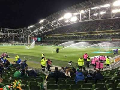 Aviva Stadium, section: 119, row: P, seat: 23